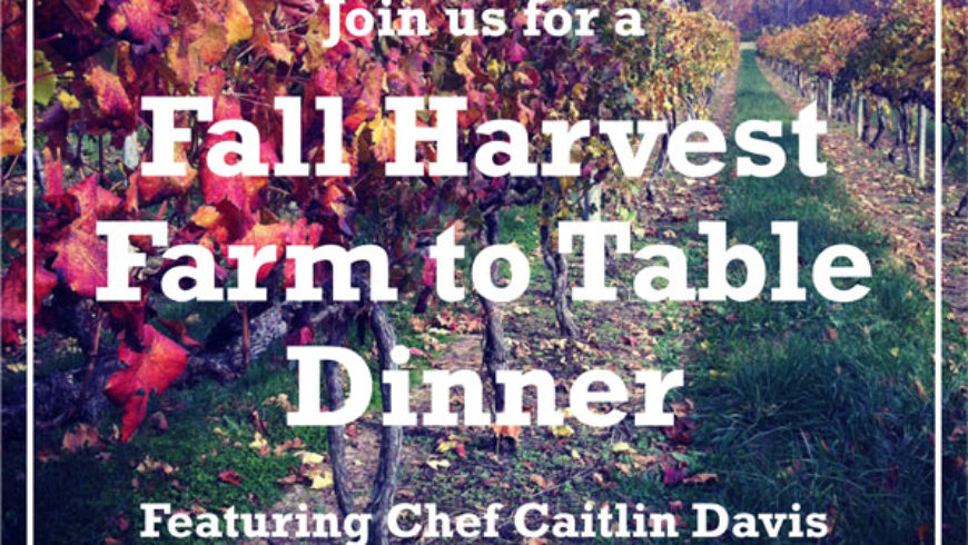 Harvest Farm to Table Dinner