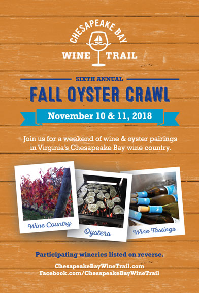 Fall Oyster Crawl 2018 postcard