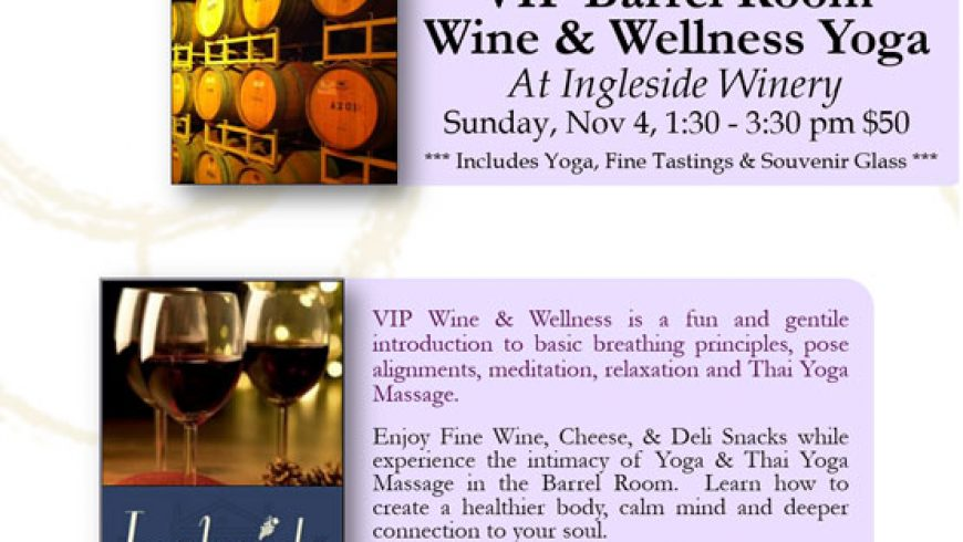 Wine & Wellness Yoga – VIP session