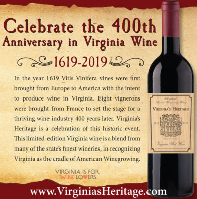 Virginia's Heritage wine release