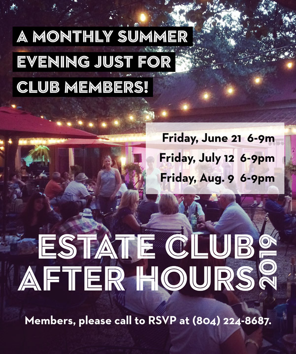 Estate Club After Hours 2019 flyer
